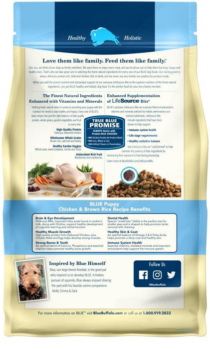 Blue Buffalo Life Protection Natural Chicken & Brown Rice Recipe Puppy Dry Dog Food