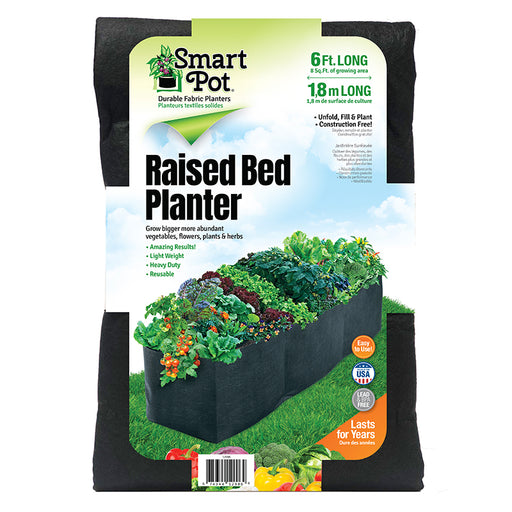 Smart Pot Long Bed Fabric Raised Bed Planter, 6 feet long