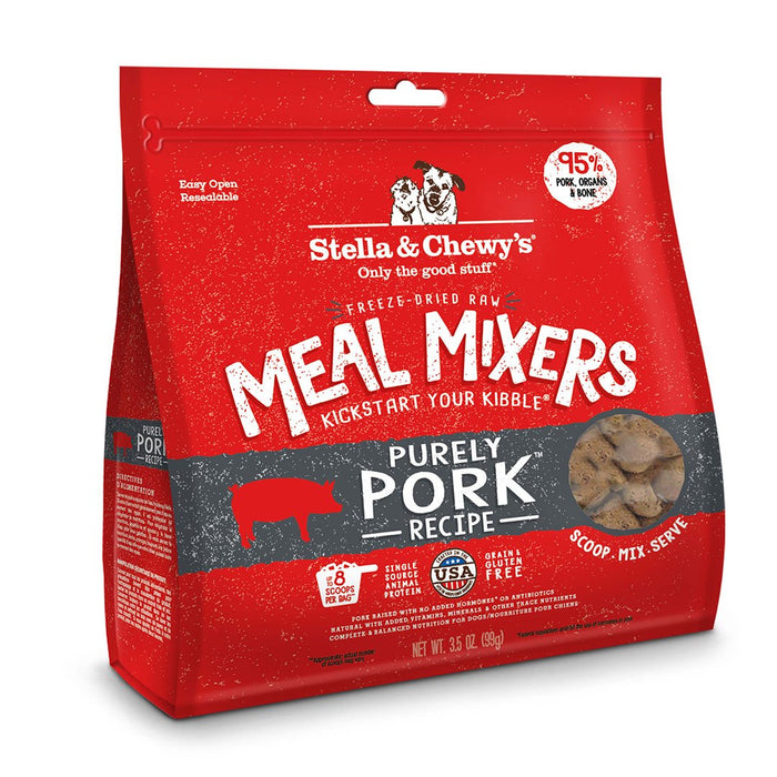 Stella Chewy's Purely Pork Grain Free Meal Mixers Freeze Dried Raw Dog Food