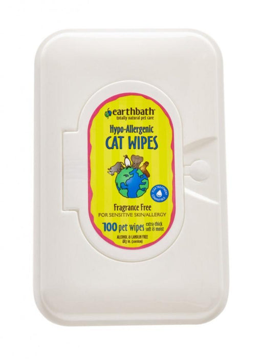 Earthbath Hypo Allergenic Fragrance Free Grooming Wipes for Cats