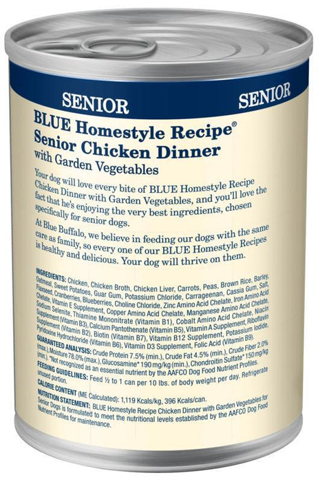 Blue Buffalo Homestyle Senior Dinner Chicken with Garden Vegetables & Brown Rice Canned Dog Food