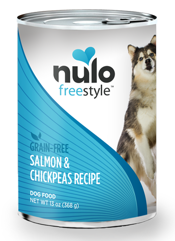 Nulo FreeStyle Grain Free Salmon and Chickpeas Recipe Canned Dog Food