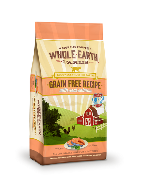 Whole Earth Farms Grain Free Real Salmon Recipe Dry Cat Food