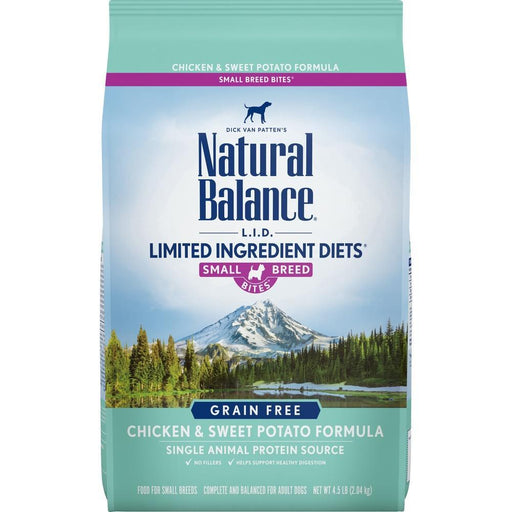 Natural Balance L.I.D. Limited Ingredient Diets Grain Free Adult Sweet Potato and Chicken Small Breed Bites Dry Dog Food