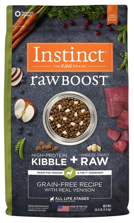 Nature's Variety Instinct Raw Boost Grain Free Recipe with Real Venison Natural Dry Dog Food