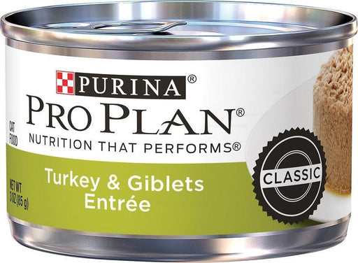 Purina Pro Plan Adult Classic Turkey & Giblets Entree Canned Cat Food