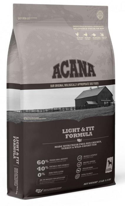ACANA Light & Fit Formula Grain Free Dry Dog Food