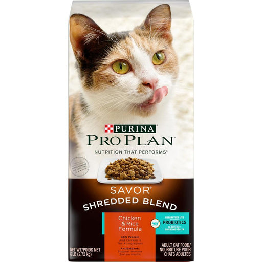 Purina Pro Plan Savor Shredded Blend Chicken & Rice Formula Adult Dry Cat Food