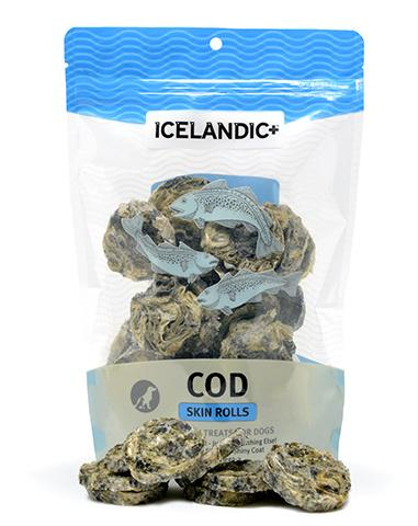 Icelandic+ Cod Skin Rolls Dog Treats