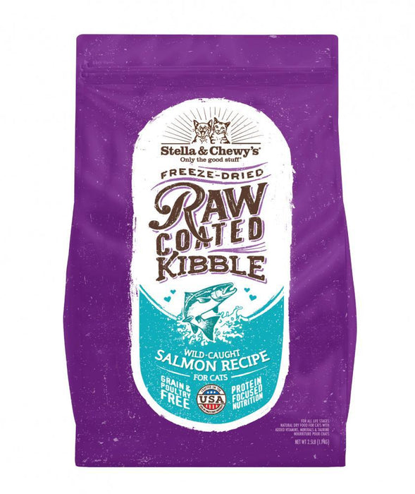 Stella & Chewy's Raw Coated Kibble Wild Caught Salmon Recipe Dry Cat Food