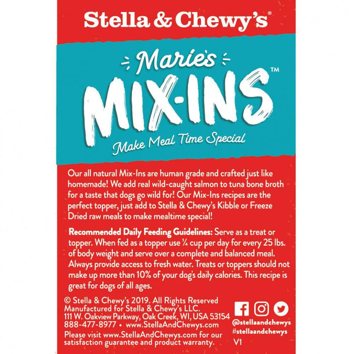 Stella & Chewy's Marie's Mix-Ins Wild Caught Salmon & Pumpkin Recipe Dog Food Topper