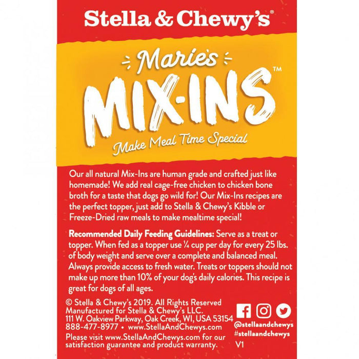 Stella & Chewy's Marie's Mix-Ins Cage Free Chicken & Pumpkin Recipe Dog Food Topper