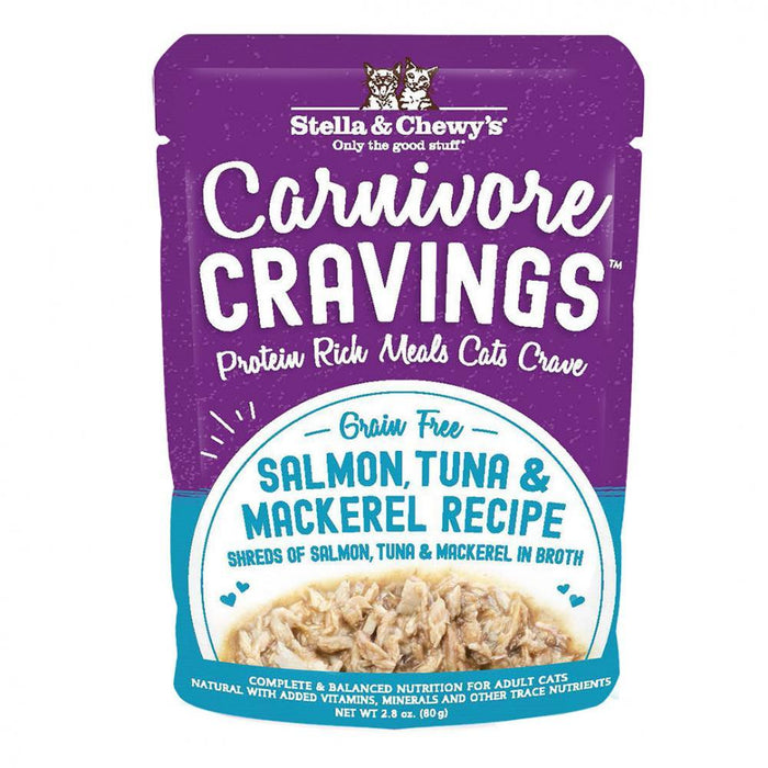 Stella & Chewy's Carnivore Cravings Salmon, Tuna & Mackerel Recipe Wet Cat Food