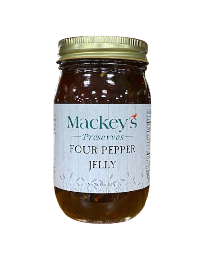 Mackey's Preserves, Four Pepper Jelly, 19oz