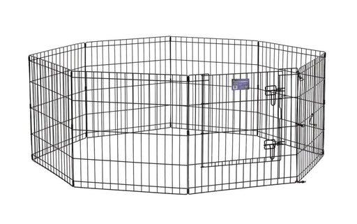 "24"" MidWest Black Exercise Pen with Door"