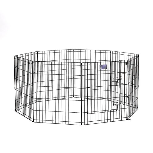 "30"" MidWest Black Exercise Pen with Door"