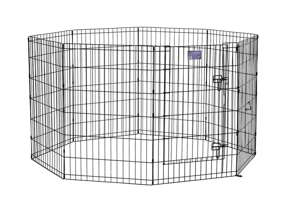 "36"" MidWest Black Exercise Pen with Door"