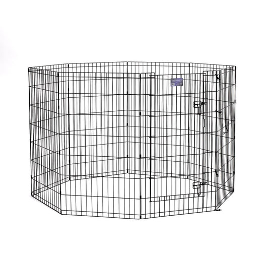 "42"" MidWest Black Exercise Pen with Door"