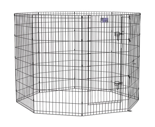 "48"" MidWest Black Exercise Pen with Door"
