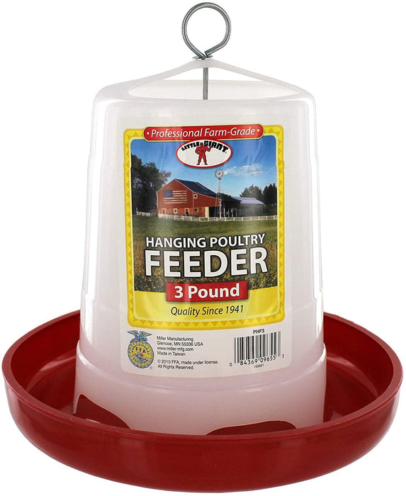 Plastic Hanging Feeder for Poultry - 2 Sizes Available