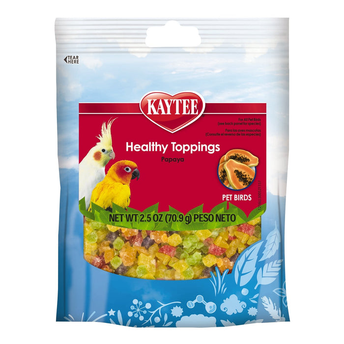 Kaytee Healthy Toppings Papaya Treat for All Pet Birds