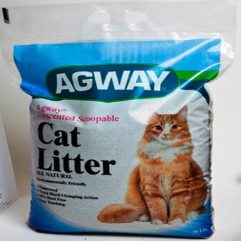 Agway Unscented Scoopable All Natural Cat Litter 30 lbs.