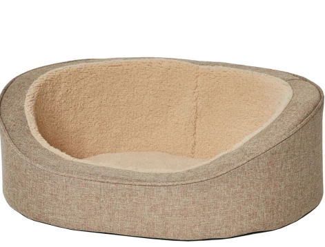 Quiet Time Hudson Pet Bed, Tan, 3 Sizes Available