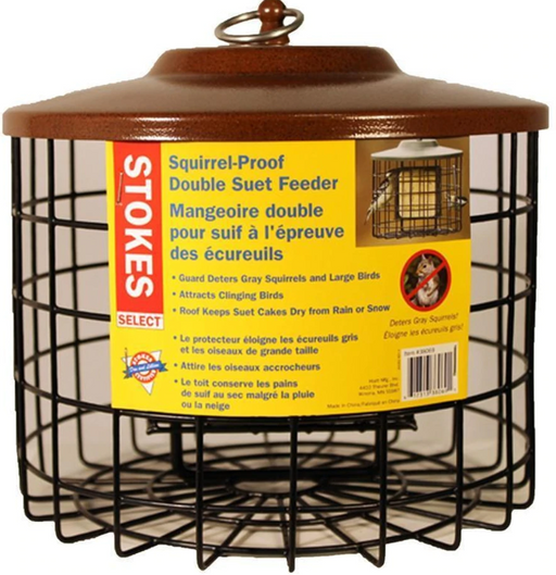 Squirrel Resistant Double Suet Bird Feeder