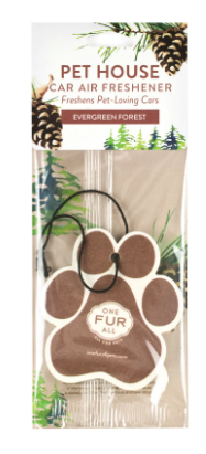 Pet House Car Air Freshener, Evergreen Forest