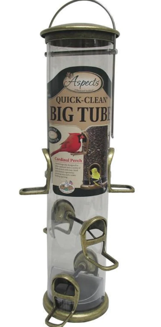 Quick Clean Big Tube Mixed Seed Tube Feeder, 3.5qt capacity