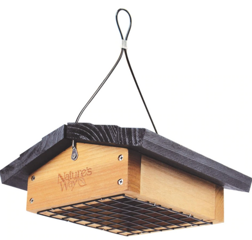 Upside Down Bamboo Suet Feeder