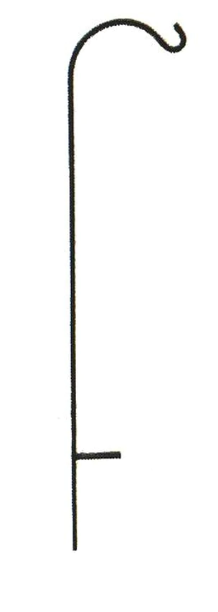 Wrought Iron Crane Single Shepherd Hook