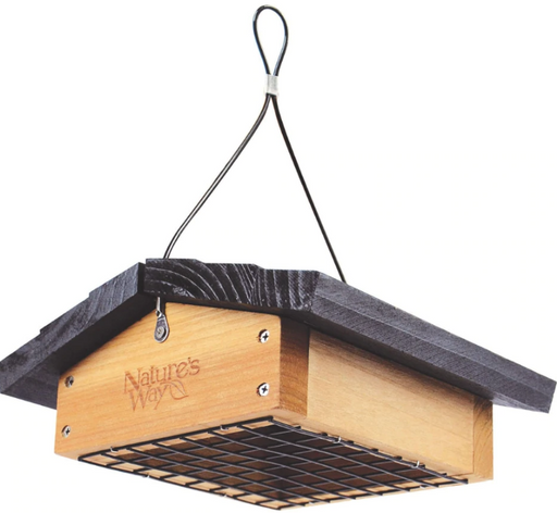 Upside Down Cedar Suet Feeder