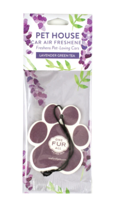 Pet House Car Air Freshener, Lavender Green Tea