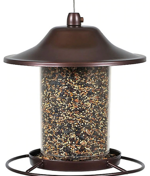 Panorama Wild Bird Feeder - Rustic Brown - Multiple Sizes
