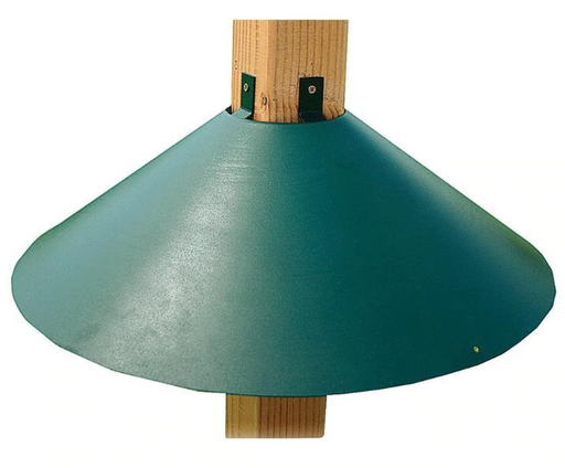 "22"" Wrap Around Post Mount Squirrel Baffle, Green"