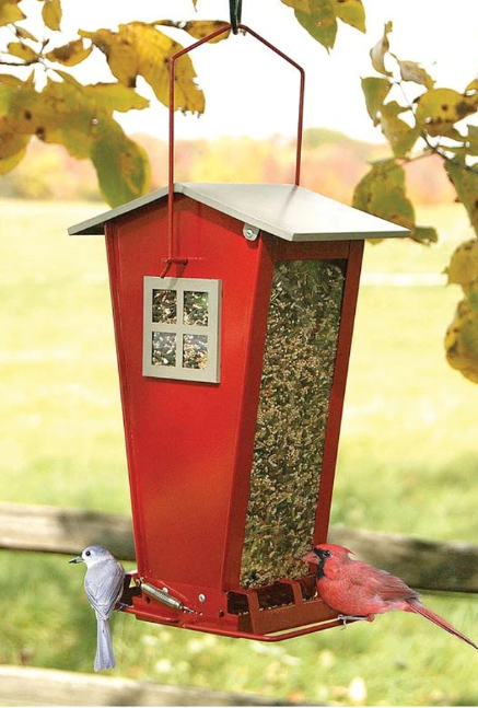 Snack Shack Squirrel-Resistant Feeder, 7lb capacity, Red