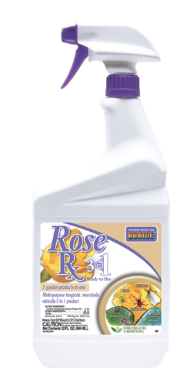 Bonide Rose Rx 3-In-1 Ready-to-Use Spray, 32oz