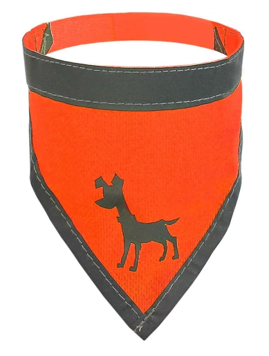 Visibility Dog Bandana, Neon Orange