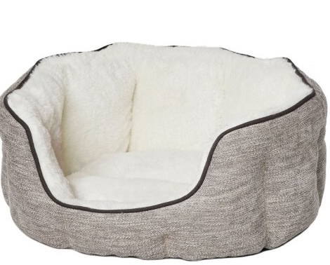 Quiet Time Tulip Fur Pet Bed, Taupe, 3 Sizes Available