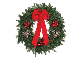 "12"" Fresh Live Fraser Fir Christmas Wreath Decorated"