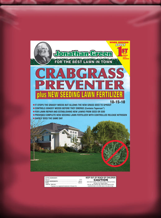 Jonathan Green Crabgrass Preventer plus New Seeding 5,000 sq. ft.