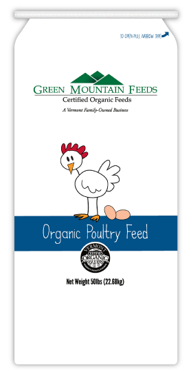 Poulin Grain Green Mountain Feeds Organic 17% Poultry Grower Pellet