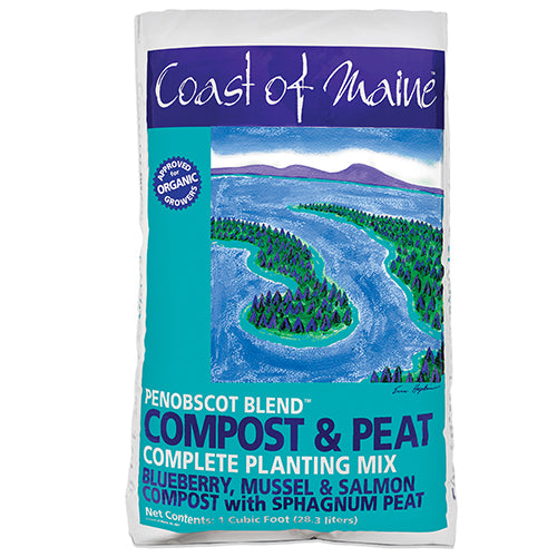 Coast of Maine Penobscot Organic Blend Compost & Peat, 1 cu ft