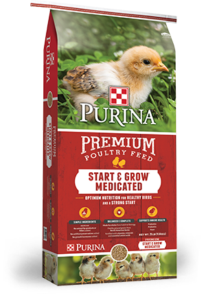 Purina® Chick Start & Grow® Medicated AMP .0125