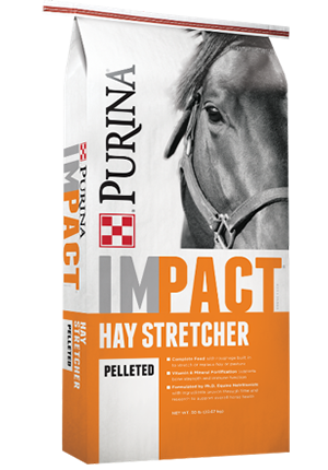 Purina® Impact® Hay Stretcher Horse Feed (Small Pellet)