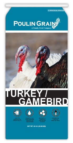 Poulin Grain Turkey/Gamebird Grower/Finisher Pellet