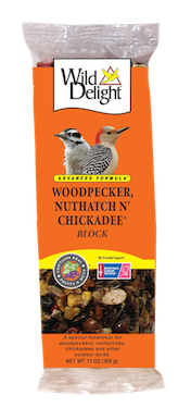 Wild Delight Woodpecker, Nuthatch N' Chickadee Block