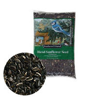 Feathered Friend Bird Seed Sunflower Blend Grey-Black