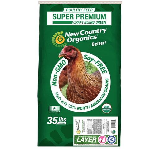 New Country Organics Craft Blend Green Corn Free Layer Pelletts